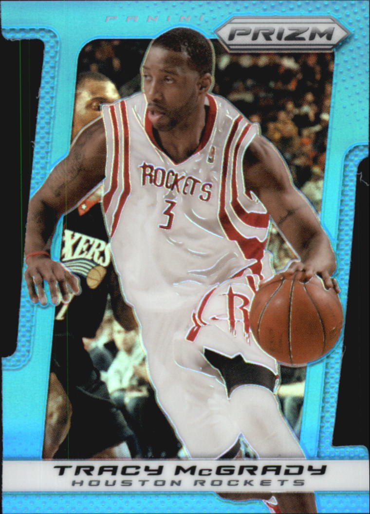 2013-14 Panini Prizm Prizms Light Blue Die Cut #38 Tracy McGrady