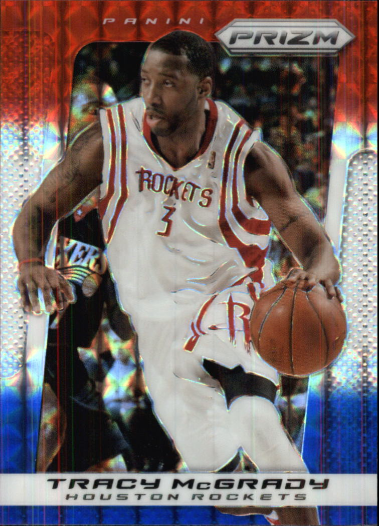 2013-14 Panini Prizm Prizms Red White and Blue Mosaic #38 Tracy McGrady