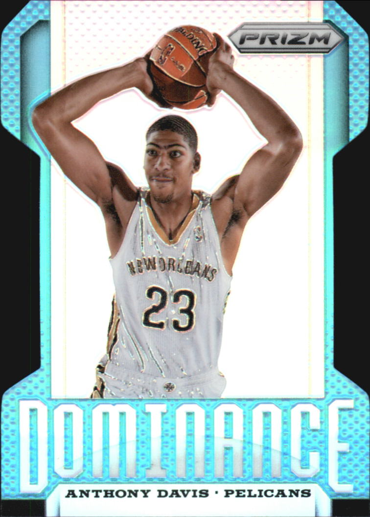 2013-14 Panini Prizm Dominance Prizms Light Blue Die Cut #25 Anthony Davis