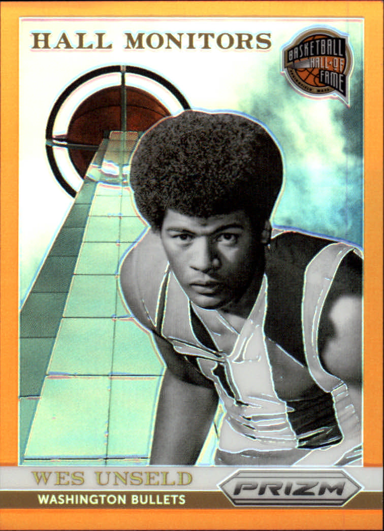 2013-14 Panini Prizm Hall Monitors Prizms Orange #22 Wes Unseld