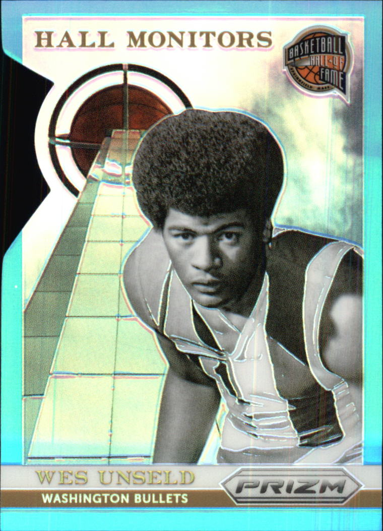 2013-14 Panini Prizm Hall Monitors Prizms Light Blue Die Cut #22 Wes Unseld
