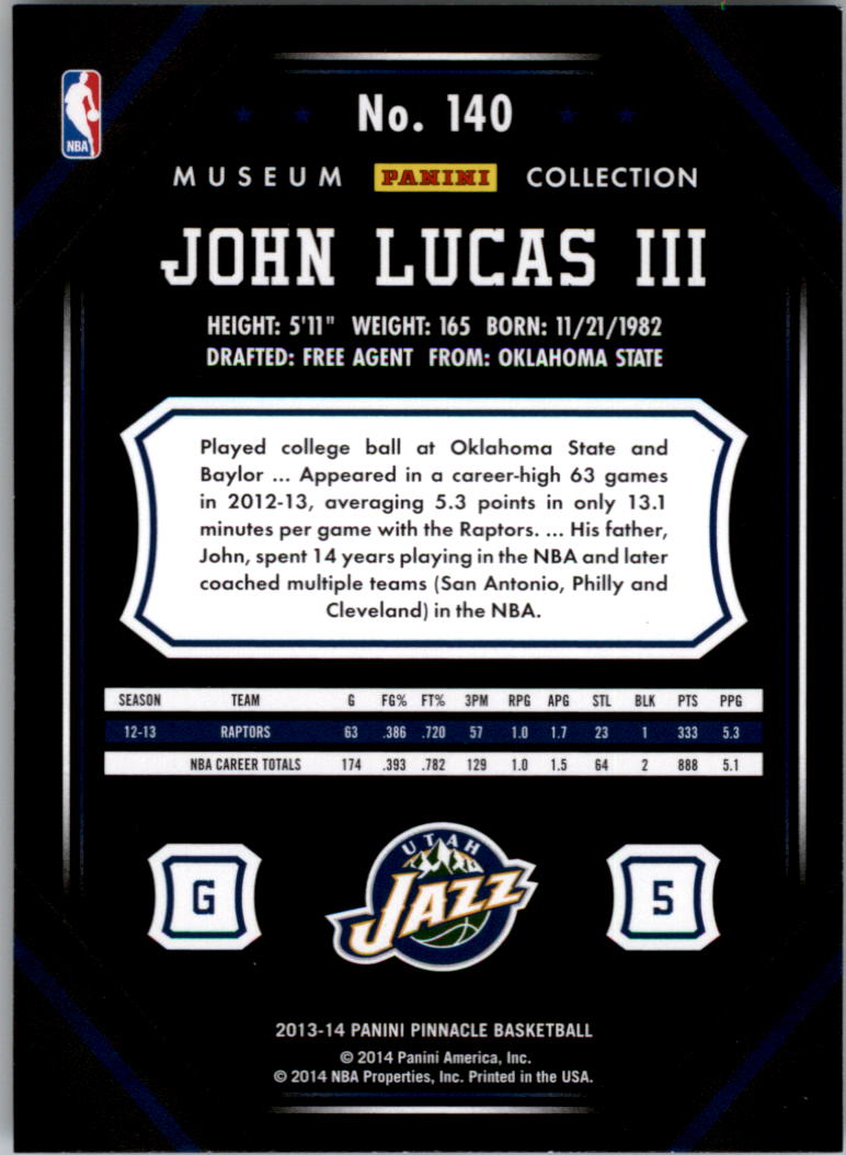 2013-14 Pinnacle Museum Collection #140 John Lucas III