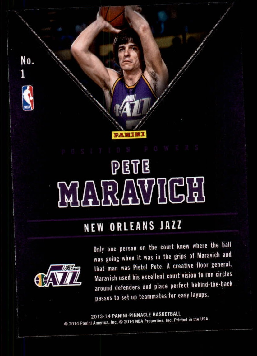 2013-14 Pinnacle Position Powers #1 Pete Maravich