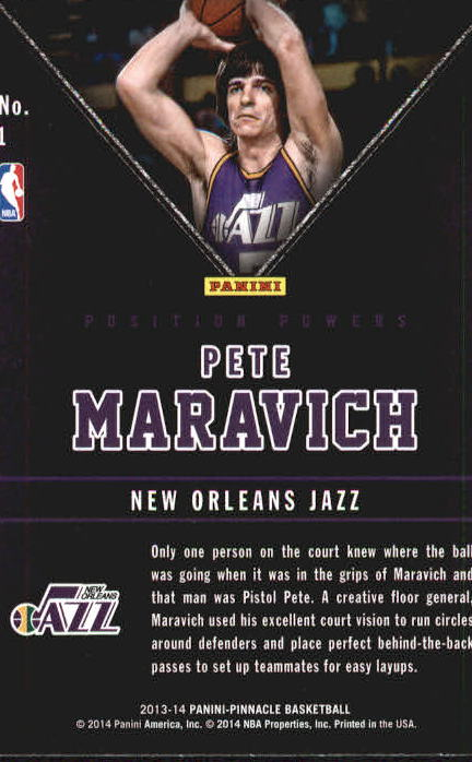 2013-14 Pinnacle Position Powers Artist's Proofs #1 Pete Maravich