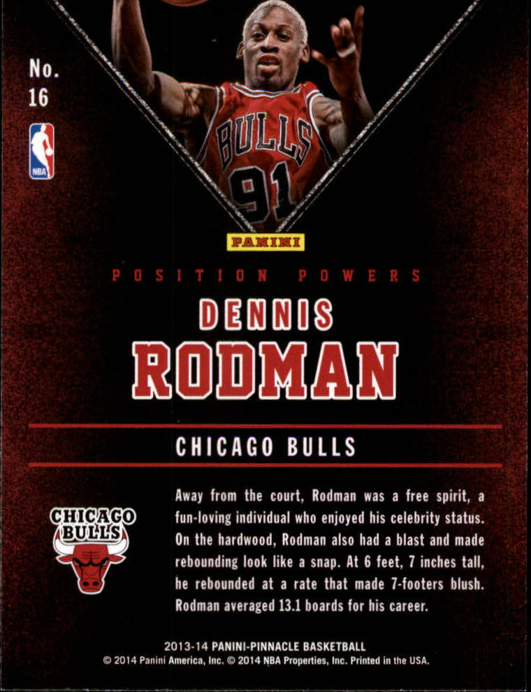 2013-14 Pinnacle Position Powers Artist's Proofs #16 Dennis Rodman