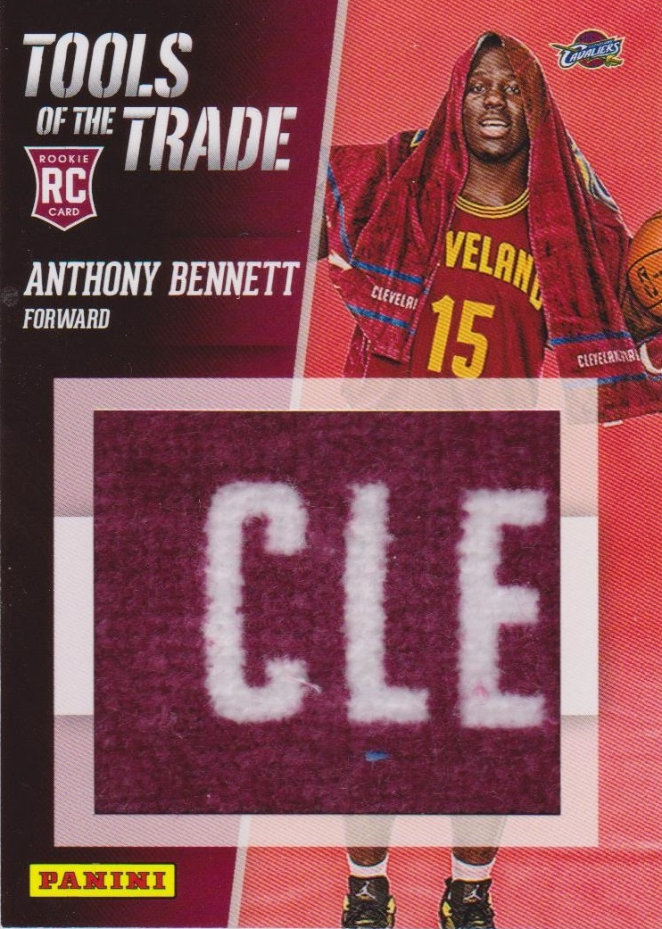 2013 Panini Black Friday Tools of the Trade Materials #1 Anthony Bennett