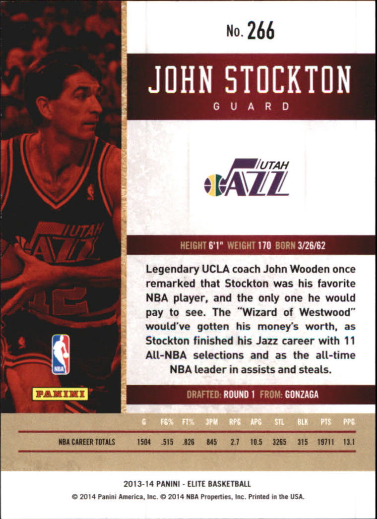 2013-14 Elite #266 John Stockton