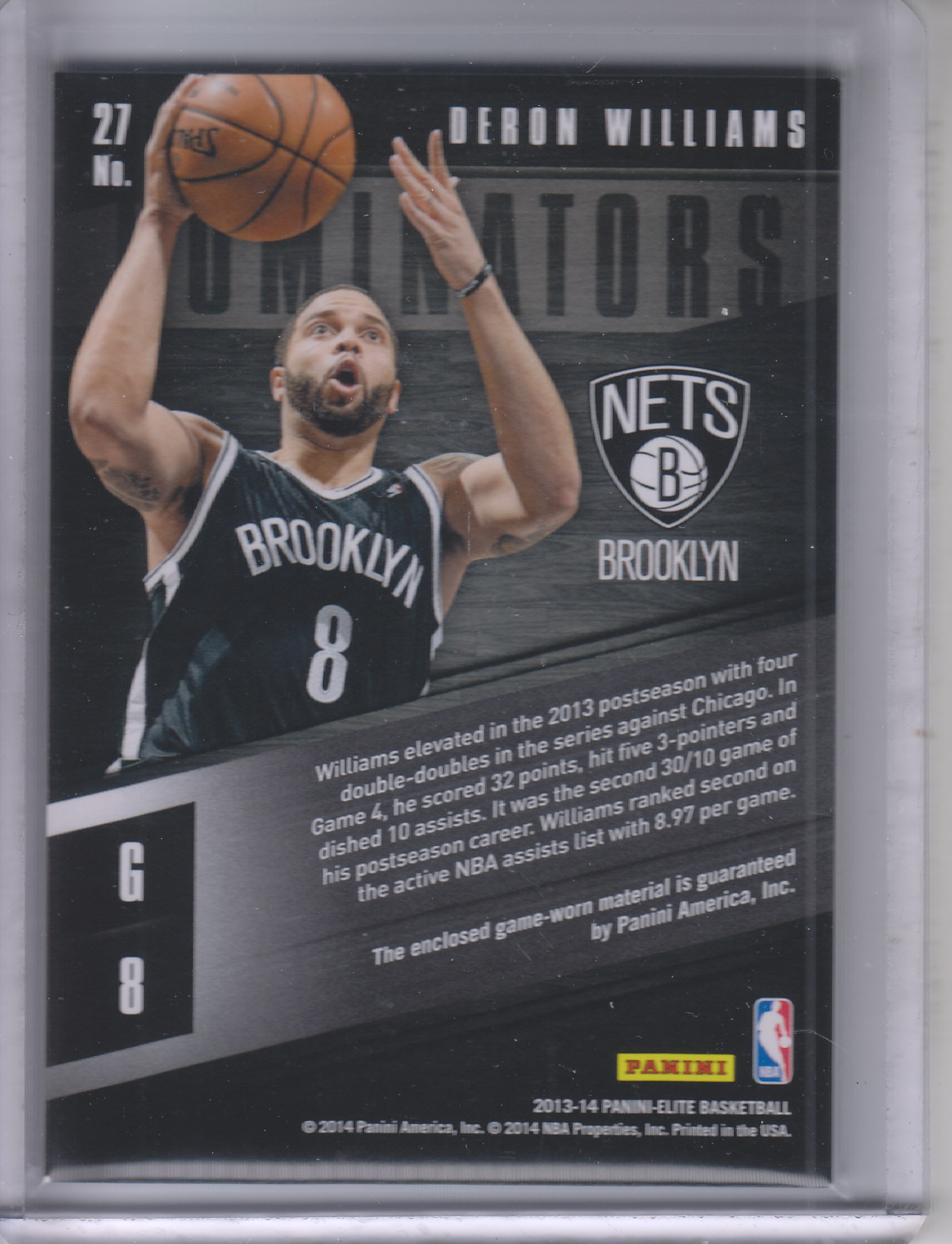 2013-14 Elite Dominators Materials #27 Deron Williams