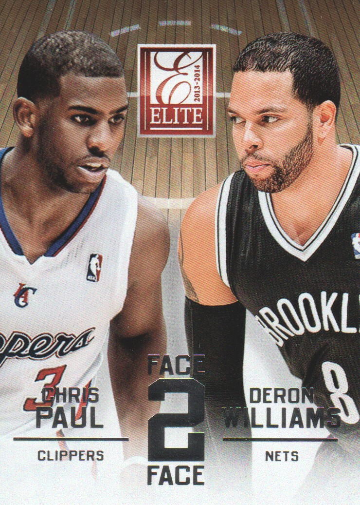 2013-14 Elite Face 2 Face #13 Chris Paul/Deron Williams