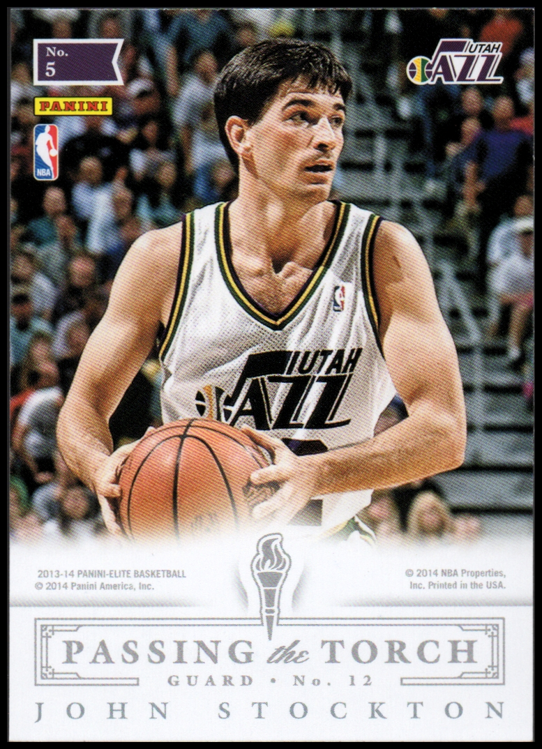 2013-14 Elite Passing The Torch #5 John Stockton/Kyrie Irving