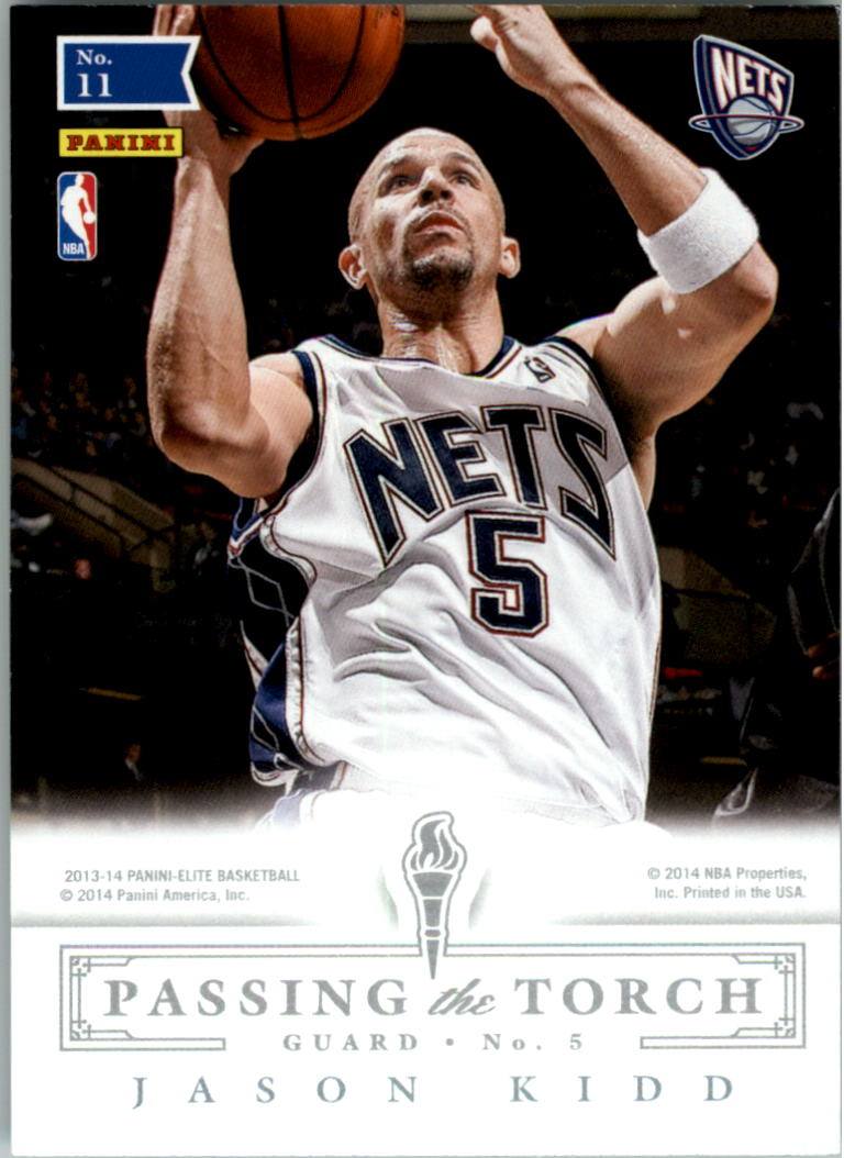 2013-14 Elite Passing The Torch #11 Deron Williams/Jason Kidd
