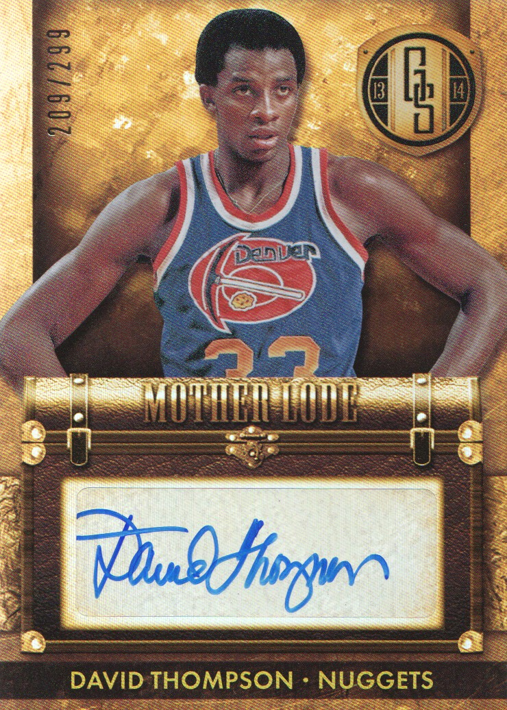 2013-14 Panini Gold Standard Mother Lode Autographs #50 David Thompson/299