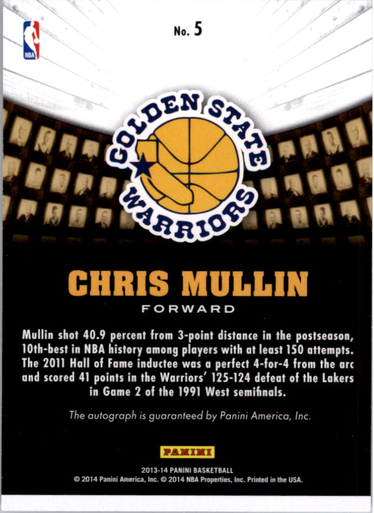 2013-14 Panini Hall of Fame Signatures #5 Chris Mullin