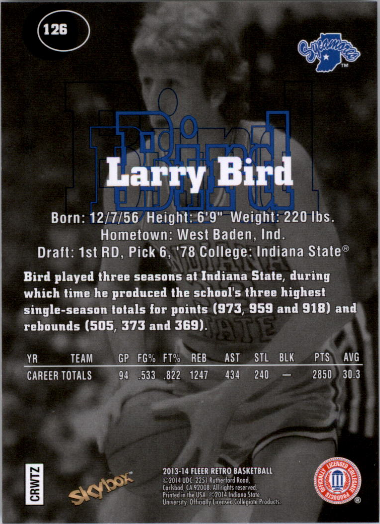 2013-14 Fleer Retro '97-98 SkyBox Premium #126 Larry Bird