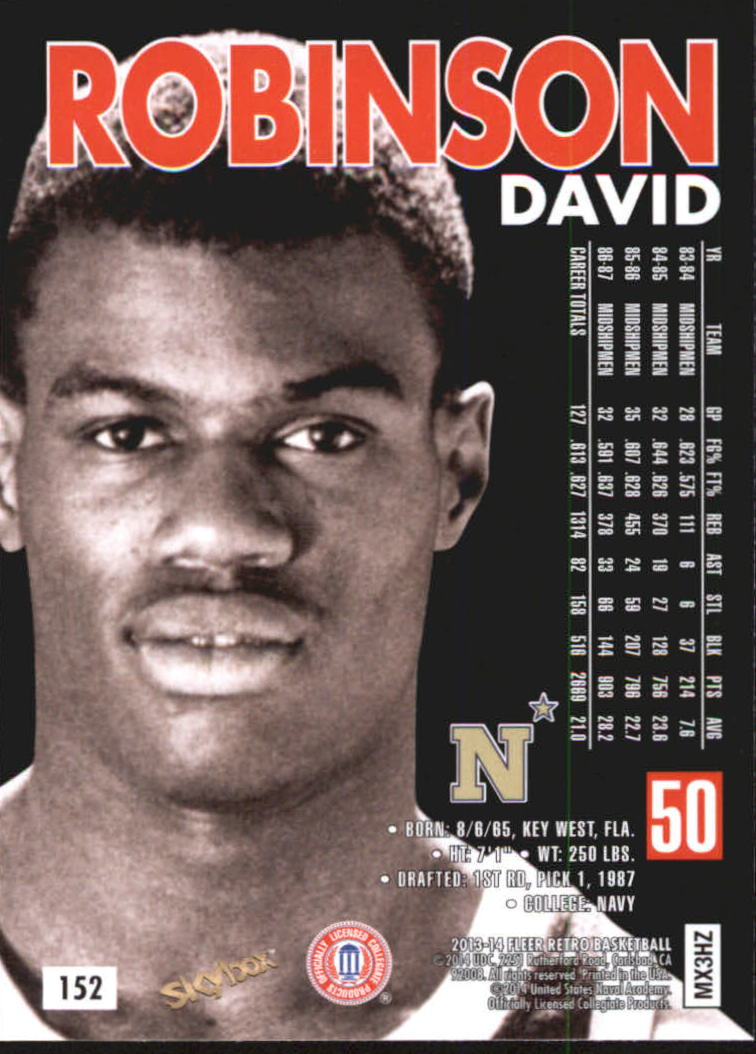 2013-14 Fleer Retro '98-99 SkyBox Premium #152 David Robinson