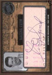 2006 Press Pass Legends Racing Cuts #TL Tiny Lund/12