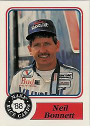 1988 Maxx Charlotte #20 Neil Bonnett RC