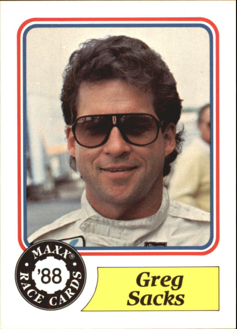 1988 Maxx Charlotte #65 Greg Sacks RC