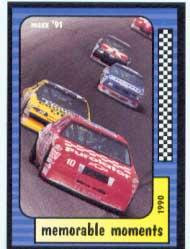 1991 Maxx #118 Michael Waltrip Crash MM
