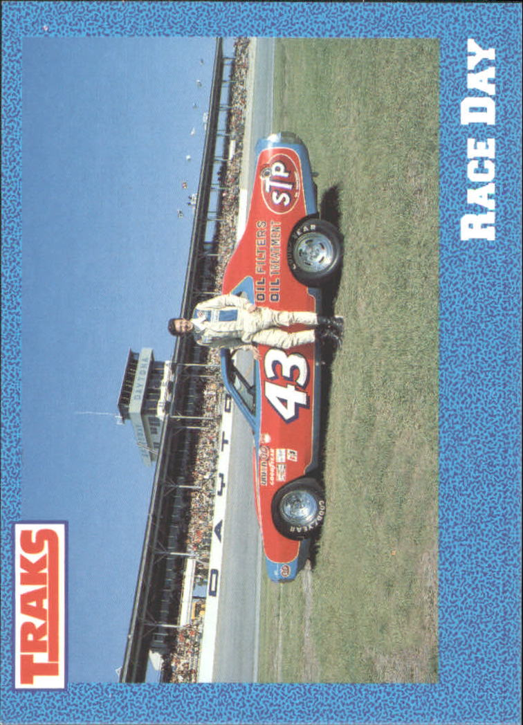 1991 Traks Richard Petty #8 Richard Petty w/Car