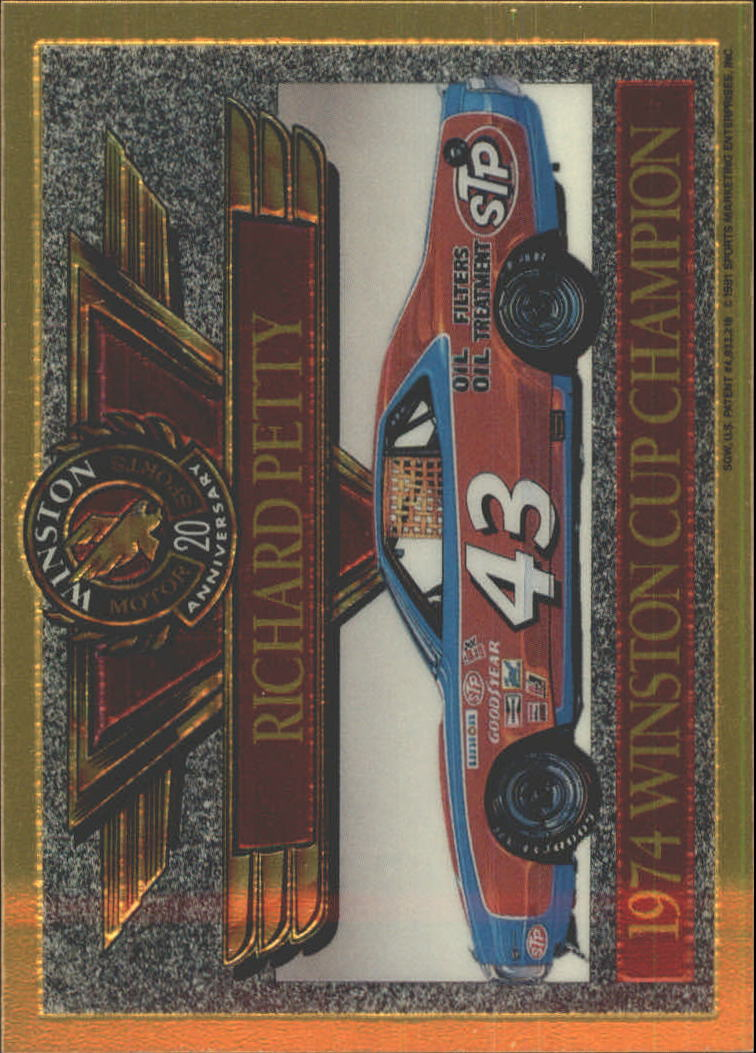 1991 Maxx Winston 20th Anniversary Foils #4 Richard Petty 1974 Car