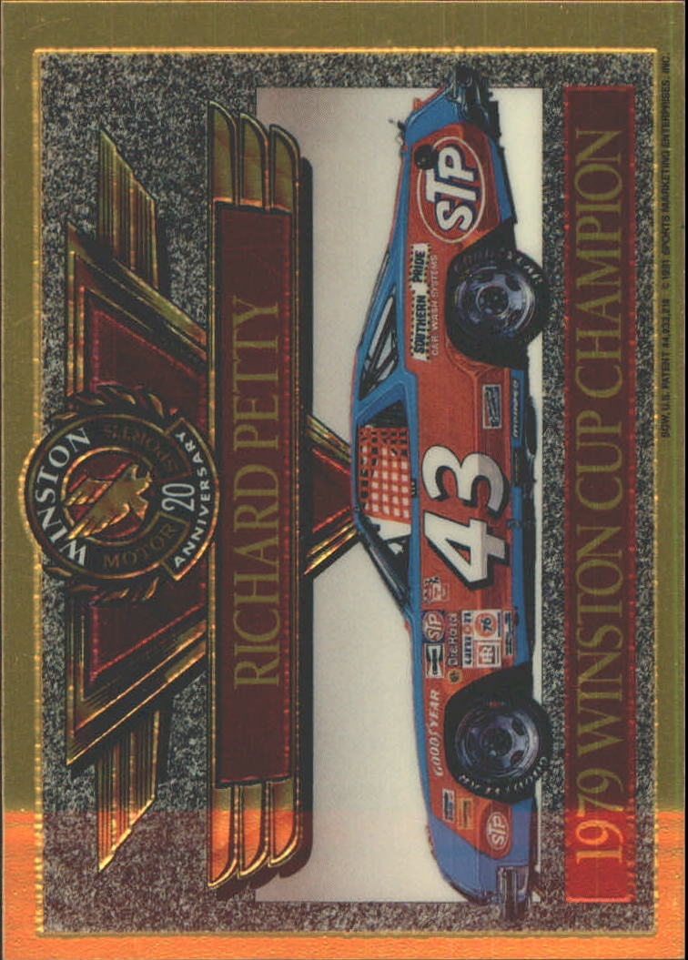 1991 Maxx Winston 20th Anniversary Foils #9 Richard Petty 1979 Car