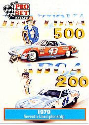 1991 Pro Set Petty Family #34 Richard Petty/Kyle Petty Art