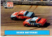 1991 Pro Set Petty Family #36 Richard Petty/Kyle Petty Cars