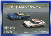1991-92 TG Racing Masters of Racing Update #39 Cover Card/Red Fox 39-76/David Pearson's Car/Earl Brooks' Car