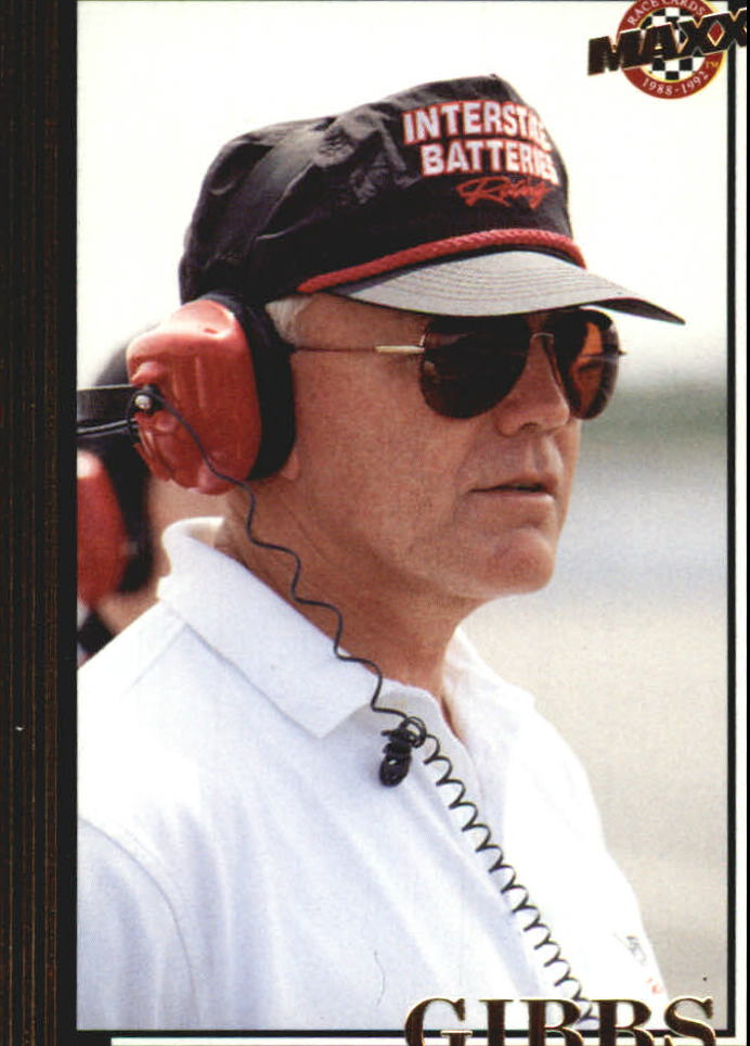1992 Maxx Black Update #U19 Joe Gibbs RC