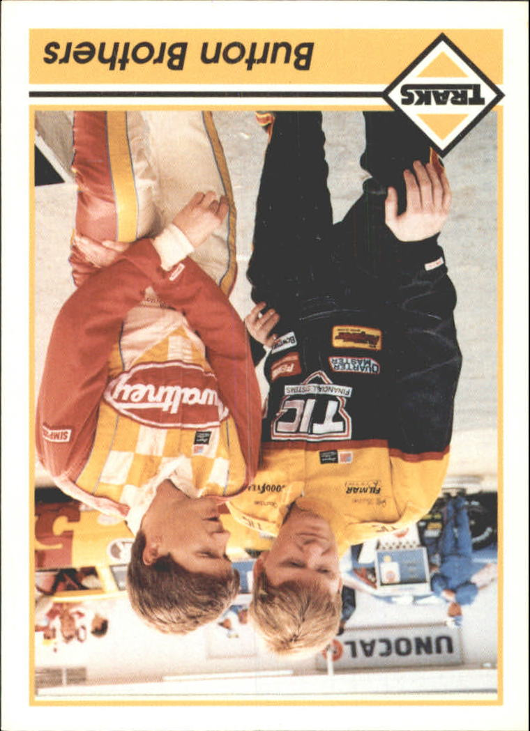 1992 Traks Racing Machines Bonus #18B Jeff Burton/Ward Burton