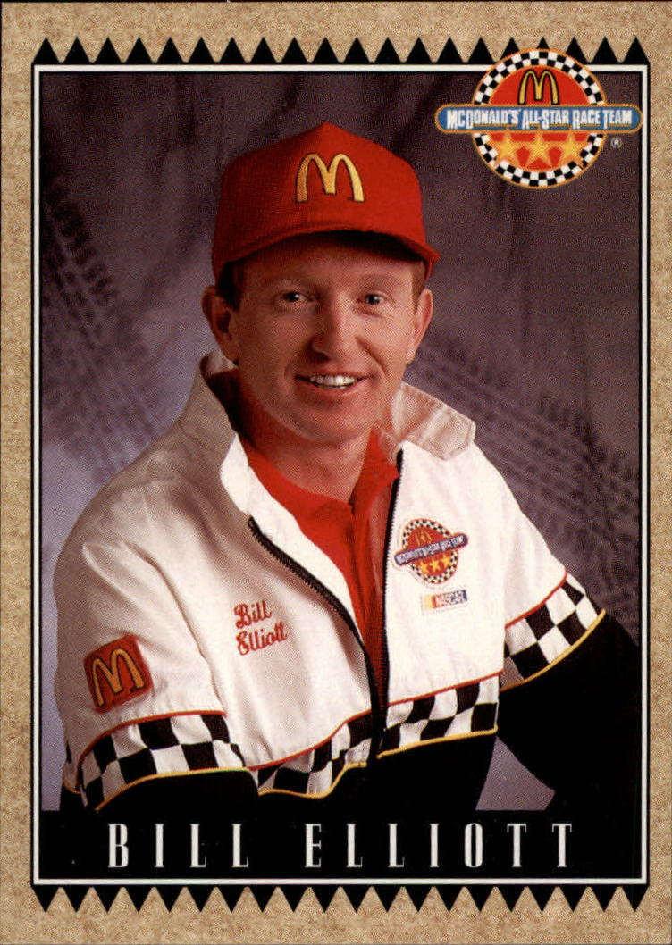 1992 Maxx McDonald's #4 Bill Elliott
