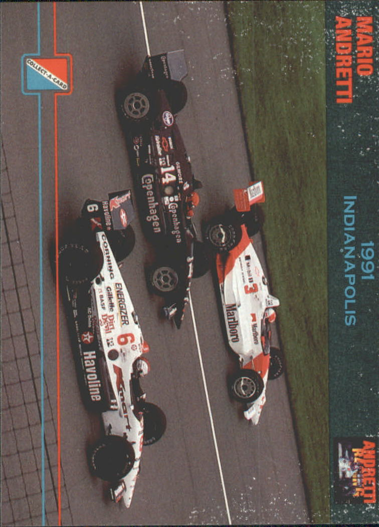 1992 Collect-A-Card Andretti Racing #41 Mario Andretti/A.J. Foyt Cars