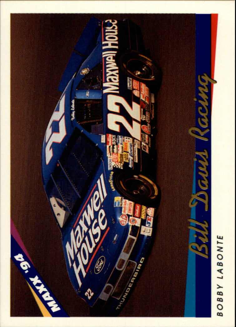 1994 Maxx #74 Bobby Labonte's Car