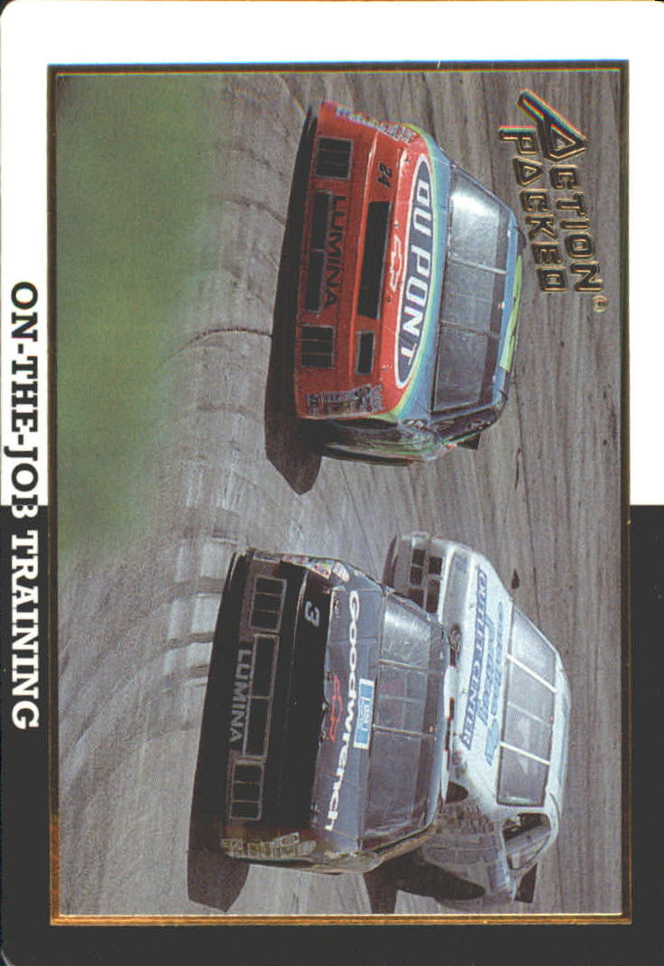 1994 Action Packed Champ and Challenger #41 Dale Earnhardt/Jeff Gordon Cars