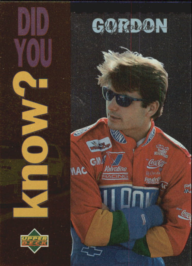 1995 Upper Deck #163 Jeff Gordon DYK