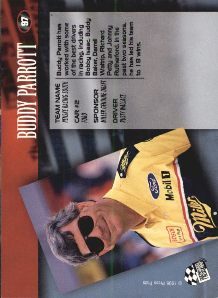 1995 Press Pass #97 Buddy Parrott back image