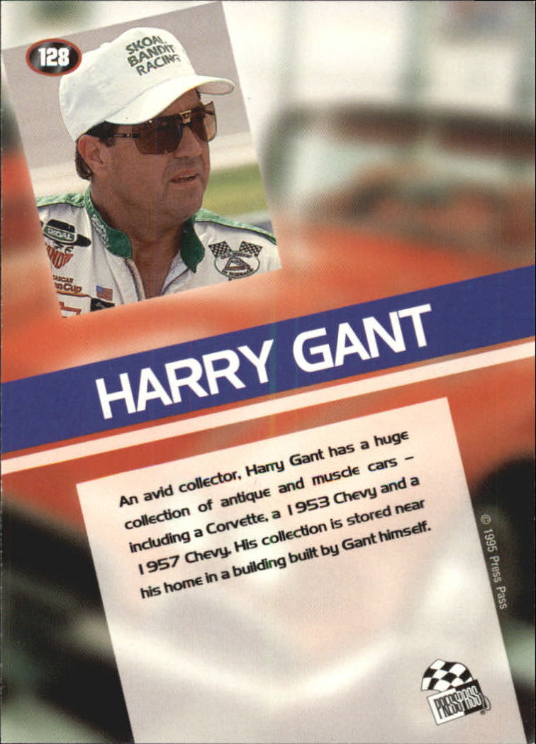 1995 Press Pass #128 Harry Gant PR back image