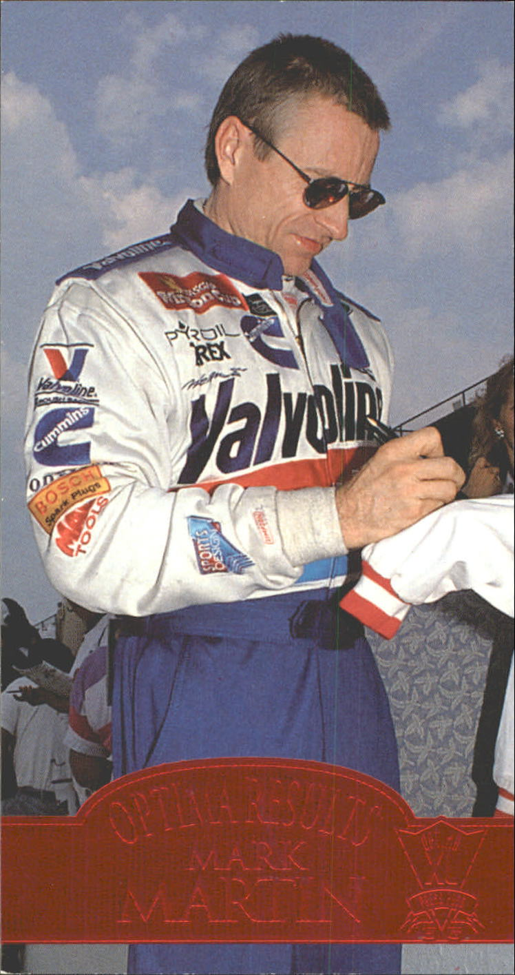 1995 Press Pass Optima XL Red Hot #58 Mark Martin