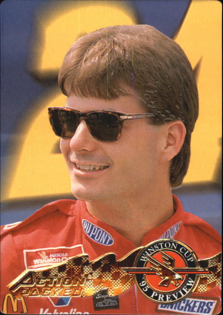 1995 Action Packed Preview #9 Jeff Gordon