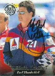 1996 Upper Deck Road To The Cup Autographs #H11 Michael Waltrip
