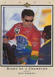 1996 Upper Deck Road To The Cup Diary of a Champion #DC5 Jeff Gordon