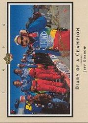 1996 Upper Deck Road To The Cup Diary of a Champion #DC7 Jeff Gordon