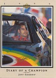1996 Upper Deck Road To The Cup Diary of a Champion #DC10 Jeff Gordon