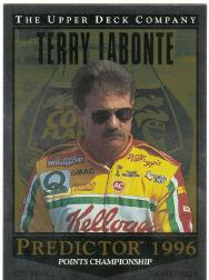1996 Upper Deck Road To The Cup Predictor Points #PP5 Terry Labonte WIN