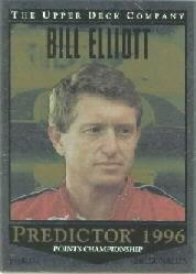 1996 Upper Deck Road To The Cup Predictor Points #PP7 Bill Elliott