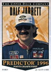 1996 Upper Deck Road To The Cup Predictor Points #PP8 Dale Jarrett