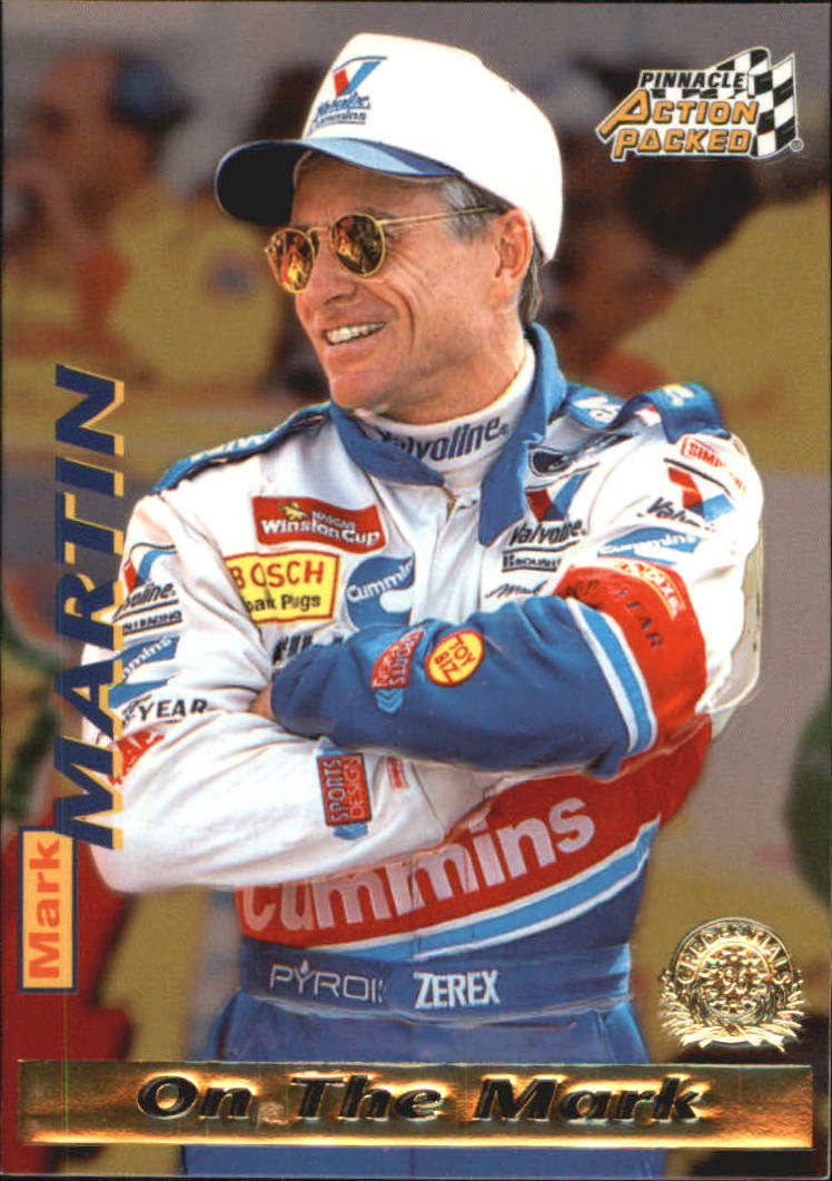 1996 Action Packed Credentials #12 Mark Martin OTM