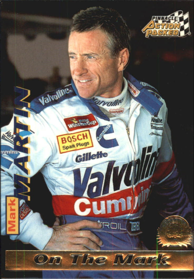 1996 Action Packed Credentials #13 Mark Martin OTM
