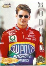 1996 Action Packed Credentials Leaders of the Pack #6 Jeff Gordon
